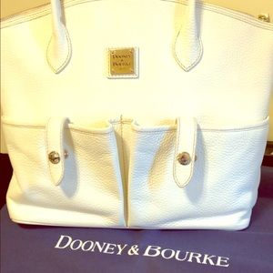 Dooney and Bourke white pebble shoulder bag